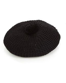 Pompom Knitted Beret
