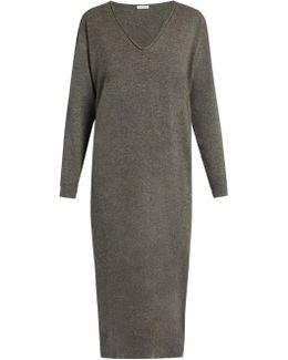 V-neck Cashmere-knit Dress