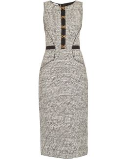 Sleeveless Bouclé-tweed Pencil Dress