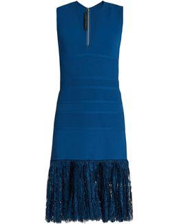 Lace-hem Sleeveless Dress