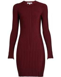 Penny Long-sleeved Ribbed-knit Dress