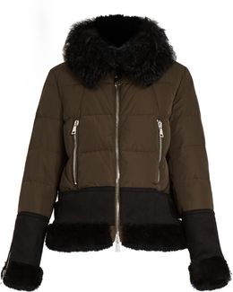 Kikilia Water-repellent Fur-trimmed Down Jacket