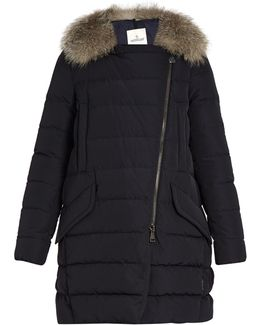 Metrodora Fur-trimmed Quilted Down Coat