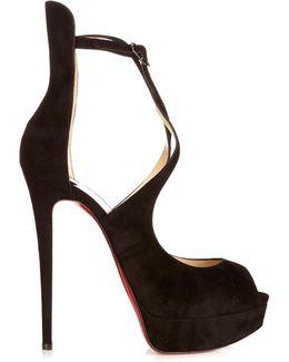 Marlenalta 150mm Suede Platform Sandals