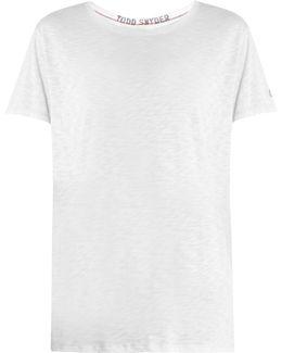 Boyfriend Crew-neck Jersey T-shirt