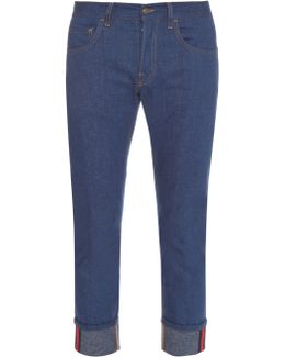 Tapered-leg Turn-up Jeans