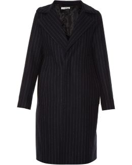 Single-breasted Pinstriped Coat