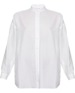 Open-back Cotton-twill Shirt