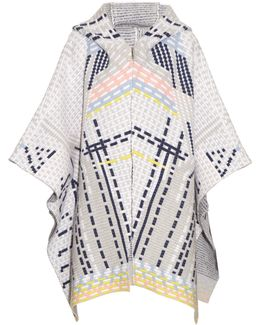 Ottaman Knit Wool-blend Cape