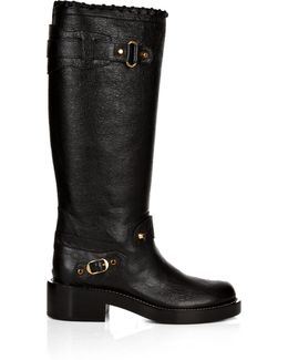 Classic Arena Leather Knee-high Boots