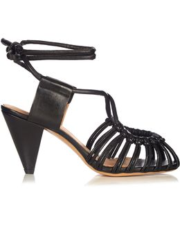 Étoile Milly Leather Cage Sandals