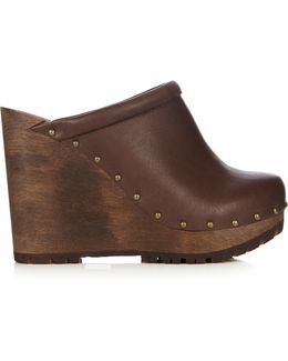 Clive Leather Wedge Clogs