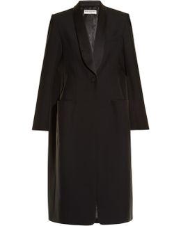 Shawl-lapel Single-breasted Coat