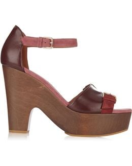 June Suede And Leather Clogs
