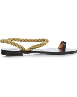 Angela Rope And Leather Sandals