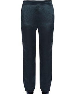 Slim-leg Satin Trousers