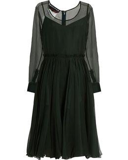 Sigaline Silk-organza Pleated-waist Dress