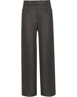 Huranal Wide-leg Flannel Trousers