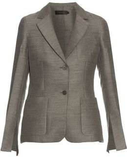Hamlin Single-breasted Wool And Silk-blend Blazer