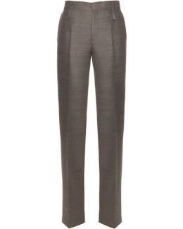 Havino Wool And Silk-blend Trousers
