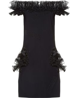Off-the-shoulder Ruffled Mini Dress