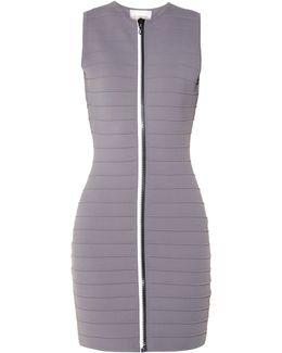 Zip-through Bandage Mini Dress