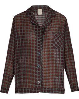 Cara Cotton And Silk-blend Pyjama Shirt