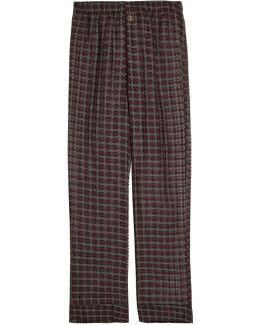 Maya Cotton And Silk-blend Pyjama Trousers