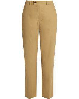 Licia Straight-leg Cotton-poplin Trousers