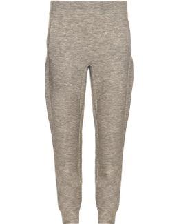 Slim-fit Cashmere-blend Track Pants