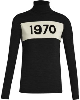 Roll-neck 1970 Wool Sweater