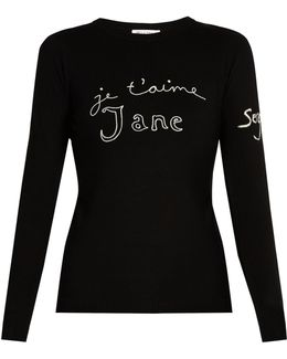 Je T'aime Jane Merino-wool Sweater