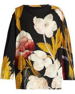 Fatima Floral-print Crepe Blouse