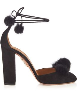 Wild Russian Fur And Suede Pumps