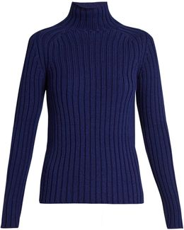 Franja Roll-neck Ribbed-knit Sweater