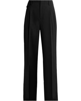 Gia Wide-leg Twill Trousers