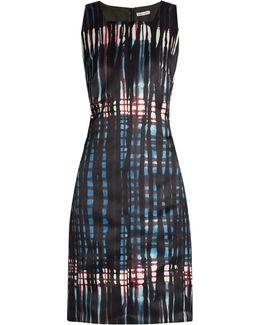 Graffiti Tartan-print Duchess-satin Dress
