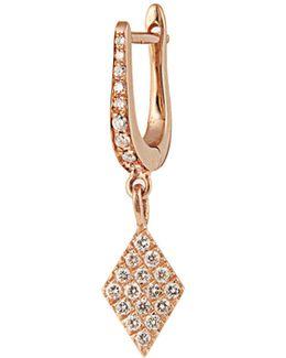 Diamond & Rose-gold Kite Earring