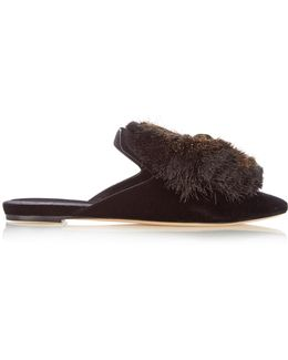 Zarina Velvet Slipper Shoes