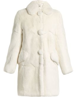 Round-collar Rabbit-fur Coat