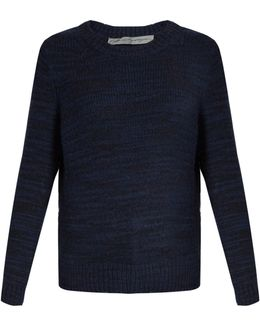 Cut-Out Wool-Blend Sweater