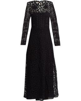 Macramé-lace Maxi Dress