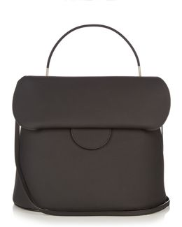 Front-flap Leather Bag