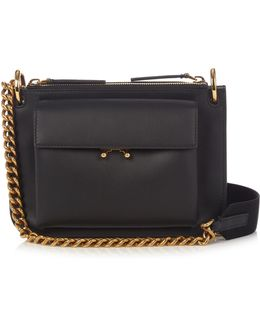 Trunk Bi-colour Leather Cross-body Bag
