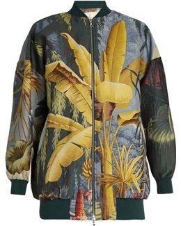 Eden-print Jacquard Bomber Jacket