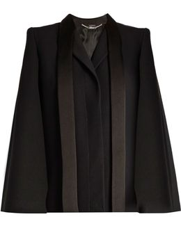 Tailored Wool And Silk-blend Cape