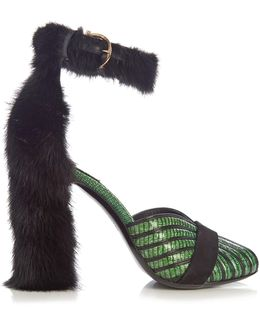 Fata Reptile-effect Leather Sandals