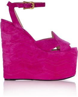Sally Suede Wedge Sandals
