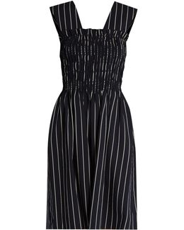 Dylan Striped Wool-blend Dress