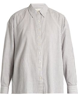 The Slouchy Striped Cotton Shirt